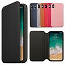 رخيصةأون Huawei أغطية / كفرات-غطاء من أجل Apple iPhone XS / iPhone XR / iPhone XS Max محفظة / حامل البطاقات / مع حامل غطاء كامل للجسم لون سادة قاسي جلد PU