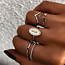 voordelige Galaxy Grand Prime Hoesjes / covers-Dames Knokkelring Ring Set Multi-vinger ring 6pcs Goud Zilver Hars Legering Ovaal Dames Vintage Punk Lahja Dagelijks Sieraden Retro Zon Cool