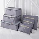 رخيصةأون ديكورات خشب-6 مجموعات حقيبة السفر / منظم السفر / منظم أغراض السفر سعة كبيرة / مقاوم للماء / المحمول الصدرية / ملابس أكسفورد القماش الخارج / السفر / للبيت / مضاعف