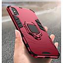 رخيصةأون أغطية أيفون-غطاء من أجل Apple iPhone XS / iPhone XR / iPhone XS Max ضد الصدمات / حامل الخاتم غطاء خلفي لون سادة قاسي الكمبيوتر الشخصي