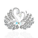 cheap Brooches-Women's Brooches Classic Swan Vintage Brooch Jewelry Silver For Daily