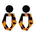 povoljno Naušnice-Žene Viseće naušnice Geometrijski dame Jednostavan Europska Moda Naušnice Jewelry Sive boje / Crvena / Zelen Za Kauzalni Dnevno 1 par