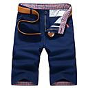 povoljno Chinos-Muškarci Ulični šik Dnevno Chinos / Kratke hlače Hlače - Jednobojni Plava Navy Plava Žutomrk 28 29 30
