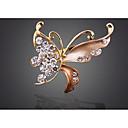 povoljno Broševi-Žene Broševi Retro Rukav leptir pomodan Korejski 1970 Broš Jewelry Tamno crvena Lila Svjetlosmeđ Za Praznik Izlasci