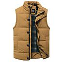 رخيصةأون خواتم-XL / XXL / XXXL أسود / أصفر مرتفعة قطن / بوليستر, Vest عادية عادي بدون كم لون سادة مناسب للبس اليومي رجالي