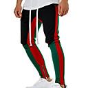 povoljno Chinos-Muškarci Osnovni Dnevno Slim Sportske hlače Hlače - Color block Crn Red Bijela XL XXL XXXL