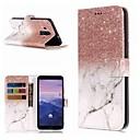 hesapli Huawei İçin Kılıflar / Kapaklar-Pouzdro Uyumluluk Huawei Mate 10 / Mate 10 pro / Mate 10 lite Cüzdan / Kart Tutucu / Satandlı Tam Kaplama Kılıf Mermer Sert PU Deri