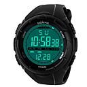 ieftine Ceasuri Bărbați-Bărbați Ceas Sport Ceas digital Japoneză Piloane de Menținut Carnea Silicon Negru 30 m Rezistent la Apă Alarmă Calendar Piloane de Menținut Carnea Modă - Negru Negru / Albastru / Cronograf / Iluminat