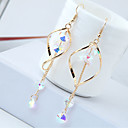 cheap Earrings-Women's Drop Earrings Hanging Earrings Long Drop Ladies European Fashion Rhinestone Earrings Jewelry Gold / Silver For Causal Daily 1 Pair