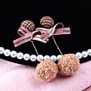 povoljno Naušnice-Žene Viseće naušnice Poveznica / lanac Lopta Mašnice dame Korejski Pozlaćeni Naušnice Jewelry Braon Za Izlasci 1 par