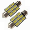 ieftine Benzi Lumină LED-SENCART 2pcs 36mm Mașină Becuri 4.5 W SMD 5730 270 lm 9 LED Lumini de interior / Lumini exterioare Pentru
