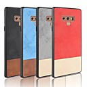 رخيصةأون أغطية أيفون-غطاء من أجل Samsung Galaxy Note 9 / Note 8 / Note 4 مثلج غطاء خلفي لون سادة ناعم جلد PU