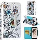 voordelige Galaxy J7 Hoesjes / covers-hoesje Voor Samsung Galaxy A6 (2018) / A6+ (2018) / Galaxy A7(2018) Portemonnee / Kaarthouder / met standaard Volledig hoesje Bloem Hard PU-nahka