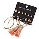 povoljno Naušnice-Žene Viseće naušnice Rese Srce dame Europska Romantični Naušnice Jewelry Zlato Za Dar Spoj 6 Parovi