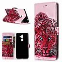 ieftine Produse Fard-Maska Pentru Nokia Nokia 7 Plus / Nokia 6 2018 / Nokia 1 Portofel / Titluar Card / Cu Stand Carcasă Telefon Animal Greu PU piele