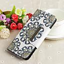 رخيصةأون ملابس وإكسسوارات الكلاب-غطاء من أجل Samsung Galaxy S9 / S9 Plus / S8 Plus محفظة / مع حامل / نموذج غطاء كامل للجسم زهور قاسي TPU
