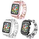 رخيصةأون مخففات التوتر-قذيفة معدنية حزام حزام إلى Apple Watch Series 4/3/2/1 أسود / الأبيض / الوردي 23CM / 9 بوصة 2.1cm / 0.83 Inches