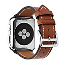 رخيصةأون ديكورات خشب-شعر العجل حزام حزام إلى Apple Watch Series 4/3/2/1 أسود / بني / الوردي 23CM / 9 بوصة 2.1cm / 0.83 Inches