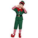 povoljno Halloween smink-Patuljak Cosplay Nošnje Santa Clothe Dječji Odrasli Boy Muškarci Božić Božić Karneval Dječji dan Festival / Praznik Pliš Terilen Zelen Karneval kostime Odmor