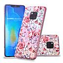 voordelige Beschermende uitrusting-hoesje Voor Huawei Huawei Nova 3i / P smart / Huawei P Smart Plus Patroon Achterkant Bloem Zacht TPU