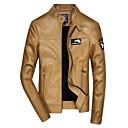 povoljno Men's Winter Coats-Muškarci Dnevno Normalne dužine Jakna, Jednobojni Rolled collar Dugih rukava Akril / Poliester Crn / Žutomrk / Slim