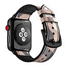 voordelige Apple Watch-bandjes-Horlogeband voor Apple Watch Series 4/3/2/1 Apple Moderne gesp Silicone / Echt leer Polsband
