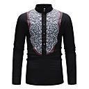 رخيصةأون قمصان رجالي-رجالي أساسي قطن قميص, ألوان متناوبة / مرتفعة / كم طويل
