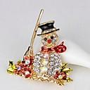 رخيصةأون أساور-نسائي دبابيس 3D سيدات كرتون حجر الراين بروش مجوهرات ذهبي من أجل عيد الميلاد