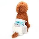 رخيصةأون مستلزمات وأغراض العناية بالكلاب-كلاب العناية الصحية بنطلونات التنظيف ملابس الكلاب أبيض كوستيوم مزيج القطن محبوكة لون سادة حيوانات العادي XS S M L