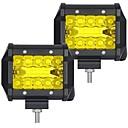 Χαμηλού Κόστους Προβολείς Εργασίας-OTOLAMPARA 2pcs Αυτοκίνητο Λάμπες 60 W SMD 3030 6000 lm 20 LED Φως Εργασίας Για