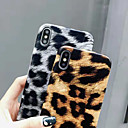 رخيصةأون أغطية أيفون-غطاء من أجل Apple iPhone XS / iPhone XR / iPhone XS Max نحيف جداً غطاء خلفي طباعة جلد نمر / حيوان ناعم جلد PU