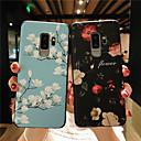 ieftine Produse Fard-Maska Pentru Samsung Galaxy S9 / S9 Plus / S8 Plus Mătuit / Embosat / Model Capac Spate Floare Moale TPU