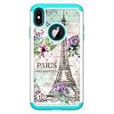 voordelige iPhone 6 Plus hoesjes-hoesje Voor Apple iPhone XS / iPhone XR / iPhone XS Max Strass / Patroon Achterkant Landschap / Eiffeltoren Hard PU-nahka