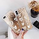 voordelige Huawei Honor hoesjes / covers-hoesje Voor Apple iPhone XS / iPhone XR / iPhone XS Max Schokbestendig / Stromende vloeistof / Transparant Achterkant Hart / Glitterglans Hard PC
