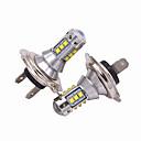 baratos Luzes de Nevoeiro para Carros-2pcs h1 / h3 / h4 / h7 / h8 / h9 / h10 / h11 lâmpadas para carros 50 w alto desempenho led 5000 lm faróis para universal todos os modelos todos os anos