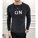 povoljno Muški džemperi i kardigani-Muškarci Dnevno Slovo Dugih rukava Slim Regularna Pullover Džemper od džempera Crn / Sive boje / Žutomrk M / L / XL
