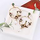 رخيصةأون القلائد-نسائي أقراط قطرة 3D عصفور سيدات أنيق كلاسيكي لؤلؤ تقليدي الأقراط مجوهرات ذهبي من أجل مناسب للبس اليومي 1 زوج