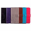 billige Etuier/covers til Huawei-Etui Til Huawei Huawei Y6 (2018) Kortholder / Flip Fuldt etui Ensfarvet / Blomst Blødt PU Læder
