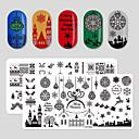 povoljno Dekoracija doma-8 pcs New Design / Izdržljivost Tikovina Nakit za nokte Za Predbožićna Kreativan nail art Manikura Pedikura Božić / Festival Moda