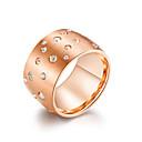 ieftine Inele-Pentru femei Band Ring Inel Zirconiu Cubic 1 buc Negru Roz auriu Argintiu inox femei Stilat Vintage Serată Gril pe Kamado  Bijuterii Clasic Cool