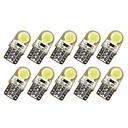 ieftine Car Signal Lights-10pcs T10 Mașină Becuri 1 W COB 50-100 lm 6 LED Bec Semnalizare Pentru Motoare generale Universal