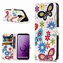 رخيصةأون حافظات / جرابات هواتف جالكسي S-غطاء من أجل Samsung Galaxy S9 / S9 Plus / S8 Plus محفظة / حامل البطاقات / مع حامل غطاء كامل للجسم فراشة قاسي جلد PU