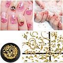 povoljno Testeri i detektori-1 pcs 3D sučelje Metalic Nakit za nokte Šljokice Za Prst noktiju Noviteti nail art Manikura Pedikura Dnevno / Maškare / Dan zahvalnosti Korejski / Moda
