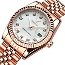 cheap Women's Watches-Women's Luxury Watches Wrist Watch Diamond Watch Japanese Quartz Stainless Steel Silver / Rose Gold 30 m Water Resistant / Waterproof Calendar / date / day Chronograph Analog Ladies Bangle Elegant -