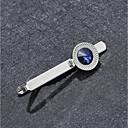 رخيصةأون رابطات عنق للرجال-رجالي التعادل كليب كلاسيكي سبيكة مناسب للبس اليومي / رسمي Tie Bar / مكعب زركونيا / أزرق ياقوتي