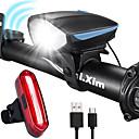 رخيصةأون اضواء الدراجة-LED اضواء الدراجة طقم مصابيح دراجة قابل لإعادة الشحن ضوء الدراجة الخلفي أضواء السلامة دراجة جبلية الدراجة ركوب الدراجة ضد الماء مكافح الضباب سطوع رائع محمول بطارية  Li-ion قابلة للتشحين USB 1000 lm