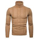 ieftine Aplice de Exterior-Bărbați Zilnic / Ieșire Activ / De Bază Mată Manșon Lung Regular Plover Pulover pulovere, Guler Pe Gât Toamnă / Iarnă Negru / Gri Deschis / Gri Închis M / L / XL