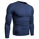 povoljno Men's Winter Coats-Majica s rukavima Muškarci - Osnovni Izlasci / Vikend Pamuk Jednobojni Okrugli izrez Crn / Dugih rukava