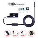 cheap Microscopes & Endoscopes-Wifi Endoscope Camera 8MM Lens Waterproof Inspection Borescope IP67 HD Endoskop Snake IOS Android Tablet Hard Tube 2M