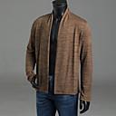 povoljno Muške jakne-Muškarci Dnevno Jednobojni Dugih rukava Regularna Kardigan Džemper od džempera, Kragna košulje Jesen / Zima Svijetlosiva / Braon / Tamno siva